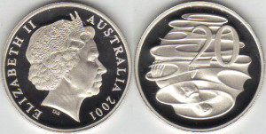 2001 Australia 20 Cents Proof copy